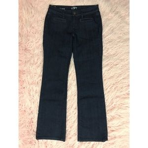 LOFT 00P Dark Wash Boot Cut Denim Jeans